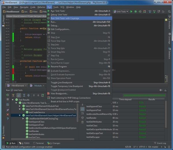 PHPStorm remote code coverage