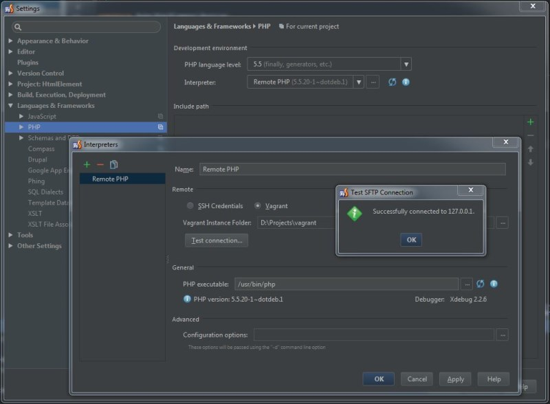 PHPStorm remote server